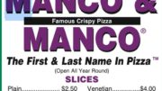Onwers of Manco & Manco Pizza Restaurants Charged With Evading Nearly $1 Million in Income Taxes