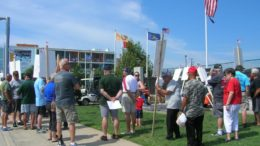 Veterans Protest For Better Healthcare Access at Wildwood's Vietnam Memorial Wall